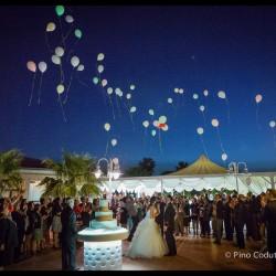 volo di palloncini luminosi