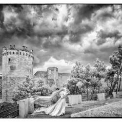 Nuvole sul castello di Lucera