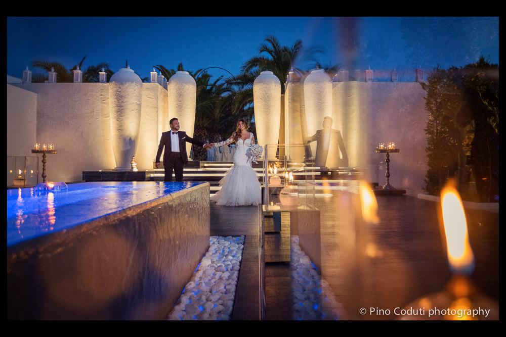 Fotografie di sera a Villa Carafa