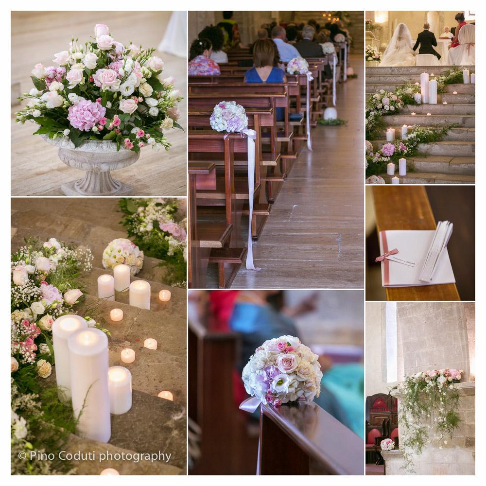 Gli addobbi floreali della Primula nella abbazia di S. Giovanni in Venere a Fossacesia
