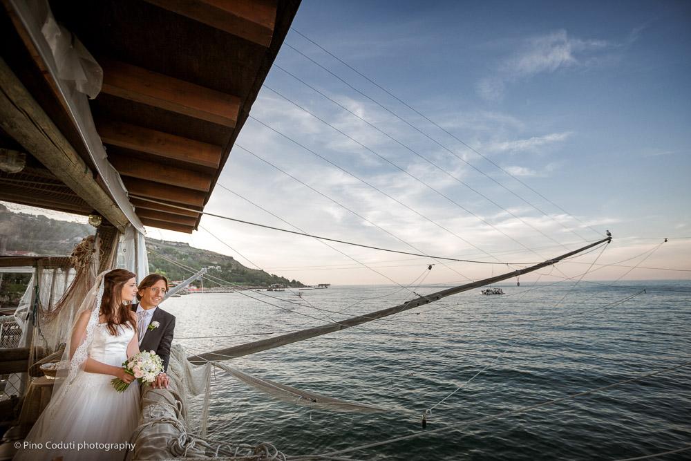 Matrimonio in Abruzzo, fotografie di sposi alla costa dei trabocchi di vasto