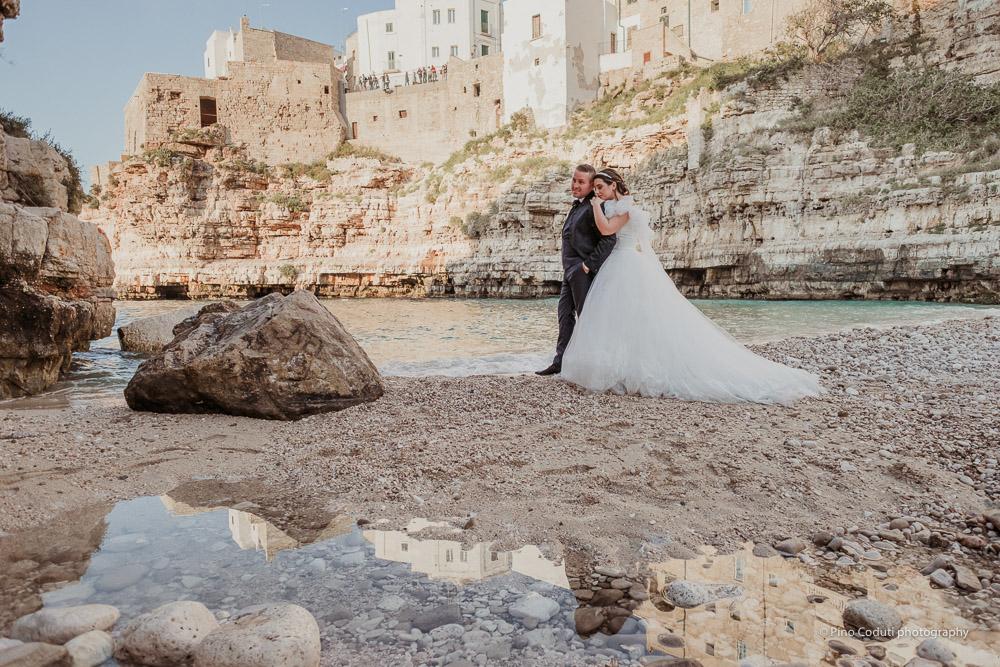 Engagement a Polignano in Puglia