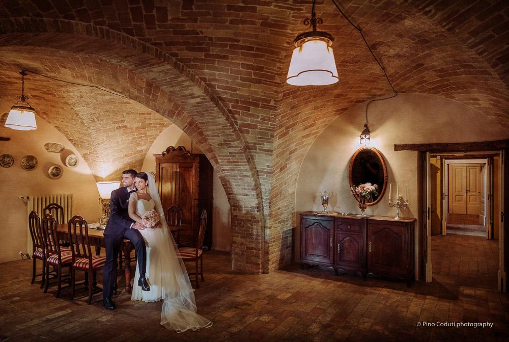 Un ritratto degli sposi a Casale Marino