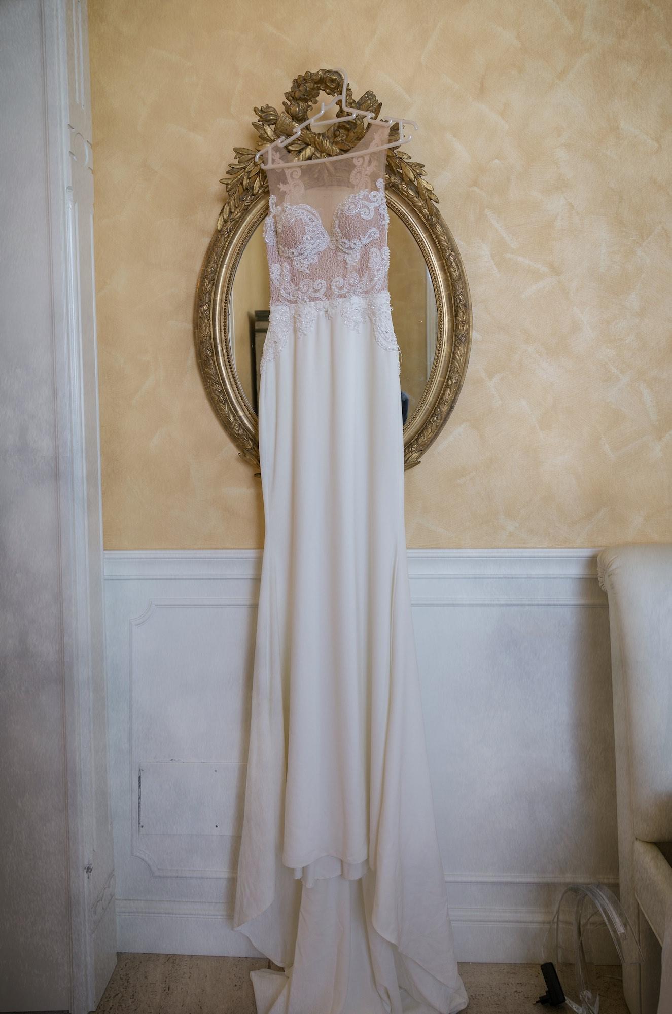 preparativi della sposa a Villa Estea