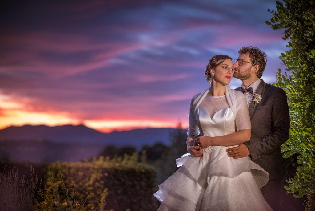 sposi e fotografia di tramonti