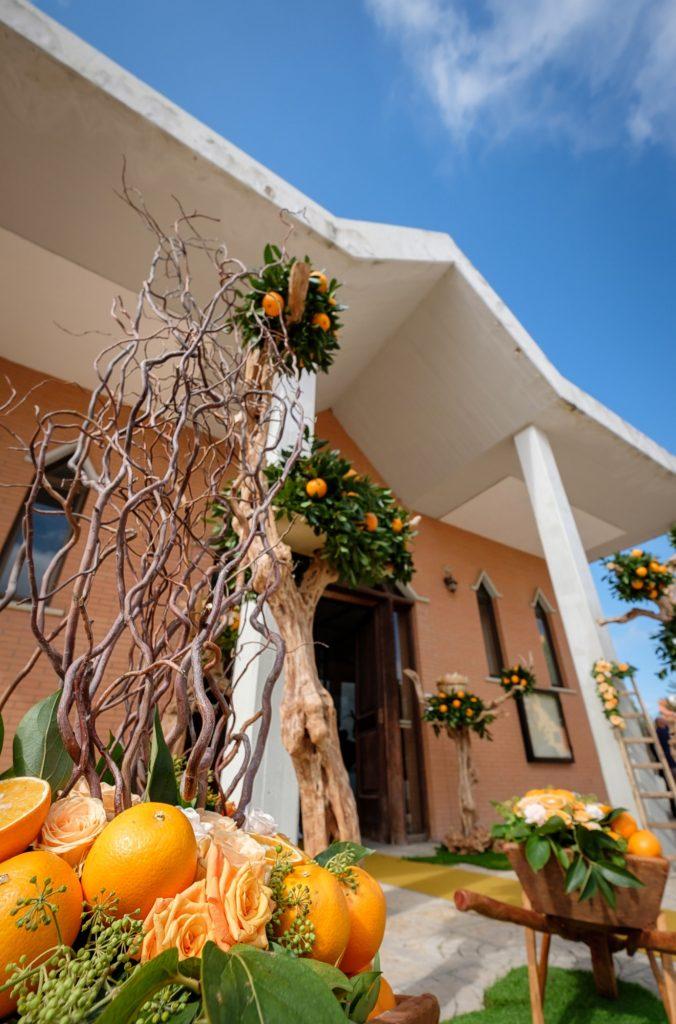 addobbi fiori ed arance matrimonio a Lucera