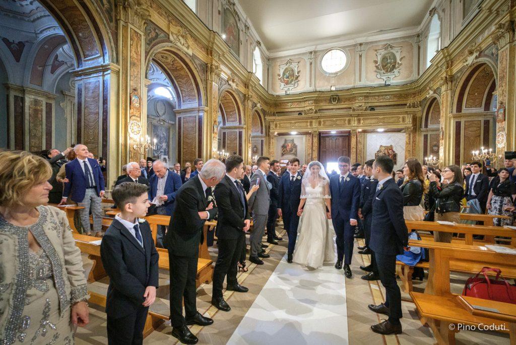 sposi nella cattedrale di San Severo