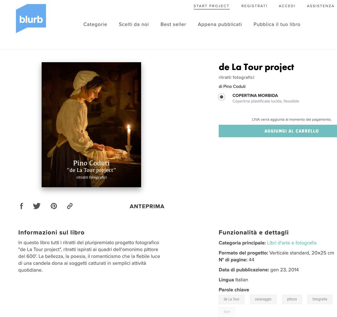 Libro de La Tour project su Blurb