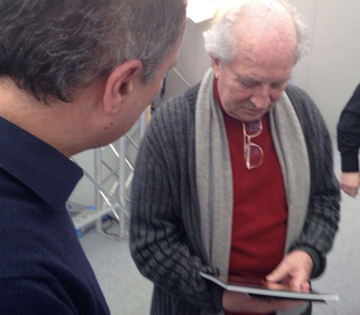 Pino Coduti con il premio Oscar Vittorio Storaro